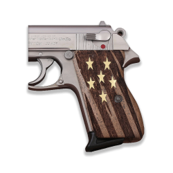 Walther PPK American (Interarms) Made Compatible Walnut Grip for Replacement (with Stars)