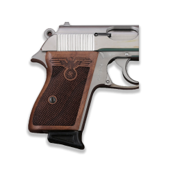 Walther PPK American (Interarms) Made Compatible Walnut Grip for Replacement (with Diamond Checkered Pattern)