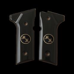 Beretta 92 Vertec / 96 Vertec / M9A3 Model Compatible Black Acrylic, Brass Grip for Replacement