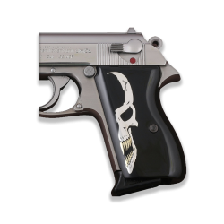 Walther PPK German Made Model Compatible Black Acrylic, Silver Grip for Replacement