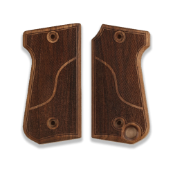 Unique RR 51 Model Compatible Walnut Grip for Replacement with Half Pattern