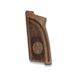 Browning HP-DA / BDA9 Model Compatible Walnut Grip for Replacement (Custom Name Relief)