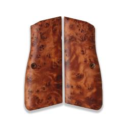 Browning HP Model Compatible Exotic Thuya Burl Wood Grip for Replacement