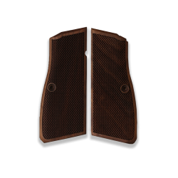 Browning HP High Power Model Compatible Walnut Grip for Replacement (with Diamond Checkered Pattern)