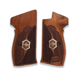 SIG P210 Heavy Frame P210-5 / P210-6 (with lanyard ring) Compatible Walnut Grip for Replacement (with Half Pattern)