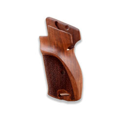 SIG P210 Heavy Frame P210-5 / P210-6 (with lanyard ring) Compatible Walnut Grip, (Thumb Grip and Diamond Checkered Pattern)