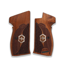 SIG P210 Heavy Frame P210-5 / P210-6 (with lanyard ring) compatible Walnut Grip for Replacement
