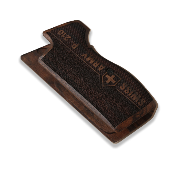 SIG P210 Heavy Frame P210-5 / P210-6 (without lanyard ring) Model Compatible Walnut Grip for Replacement