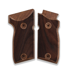 Astra A75 Model Compatible Walnut Grip for Replacement with Diamond Checkered Pattern