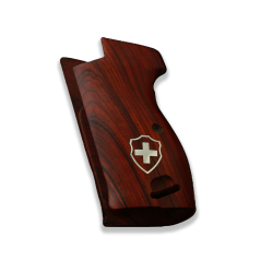 SIG P210 Heavy Frame P210-1 / P210-4 / P210-5 / P210-6 / DK-M49 Model Compatible Rosewood Grip with Lanyard Ring
