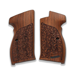 SIG P210 Heavy Frame P210-1 / P210-4 / P210-5 / P210-6 / DK-M49 Compatible Walnut Grip for Replacement with Lanyard Ring