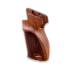 SIG P210 P210-5 Sport / P210-6 Sport Compatible Walnut Grip for Replacement (with magazine release on top and lanyard ring)