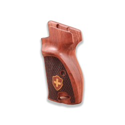 SIG P210 Black Walnut S P210-5 Sport / P210-6 Sport Compatible Walnut Grip (with magazine release on top, with lanyard ring)