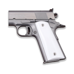 Sig Sauer 1911 1911 FIT Model Les Baer, Nowlin, Springfield, Kimber - Compatible White Acrylic Grip for Replacement