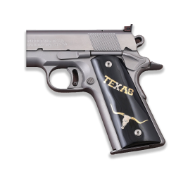 Sig Sauer 1911 1911 FIT Model Les Baer, Nowlin, Springfield, Kimber Model Compatible Black Acrylic Grip for Replacement