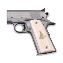 Sig Sauer 1911 1911 FIT Model Les Baer, Nowlin, Springfield, Kimber - Compatible White Acrylic Grip for Replacement, Logo