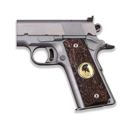 Sig Sauer 1911 1911 FIT Model Les Baer, Nowlin, Springfield, Kimber - Compatible Walnut Grip, with Silver Spartan Logo