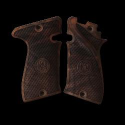 Star Bonifacio Echeverria Model F 22 Model Compatible Walnut Grip for Replacement (with Python Pattern & Logo Relief)
