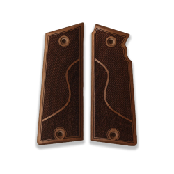 Star Super B Model Compatible Walnut Grip for Replacement (with Half Pattern)