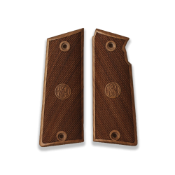 Star Super B Model Compatible Walnut Grip for Replacement (with Diamond Checkered Pattern & Relief)