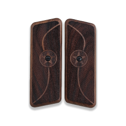 TOKAREV M 57 Long 9mm Model Compatible Walnut Grip for Replacement (with Half Pattern & Star Relief)